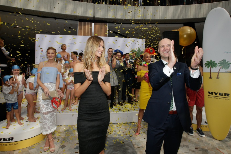 Myer opening Warringah, Jen Hawkins with Mr Boyd